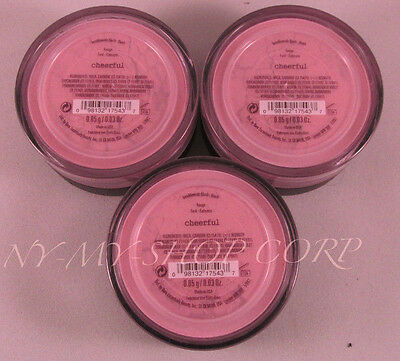 Bare Escentuals BareMinerals Blush Cheerful for Face Cheeks .85g - LOT of 3