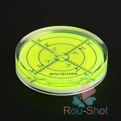 60x12mm Green Disc Bubble Spirit Level Round Circular Circle Level