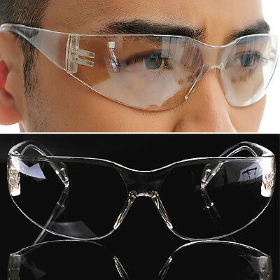 Up Eye Protection Protective Lab Anti Fog Clear Goggles Glasses Vented Safety