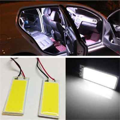 Cool White 36 COB LED Xenon HID Dome Map Light Bulb Car Interior Panel Lamp 12V