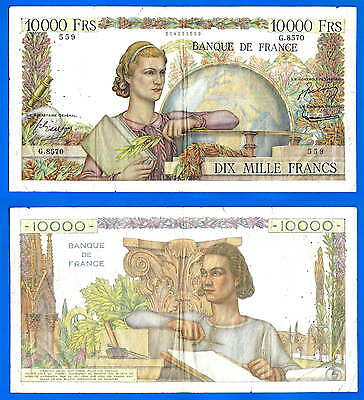 France 10000 Francs 1955 7 April French Engineer Great Banknote Free Ship World