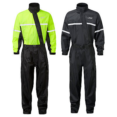 JDC Motorcycle Waterproof Rain Over Suit Hi Vis Rainsuit Oversuit 1PC - SHIELD