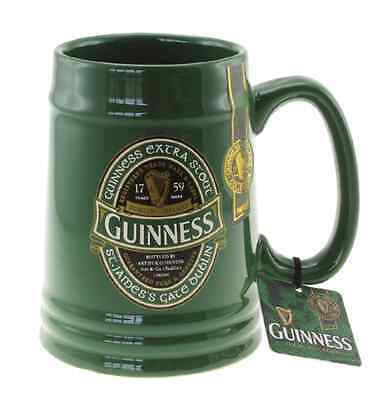 Birra Guinness Boccale verde ceramica tazza bicchiere pinta Ireland Collection