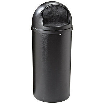Rubbermaid 15-Gal. Round Classic Container (Black) 816088BK NEW