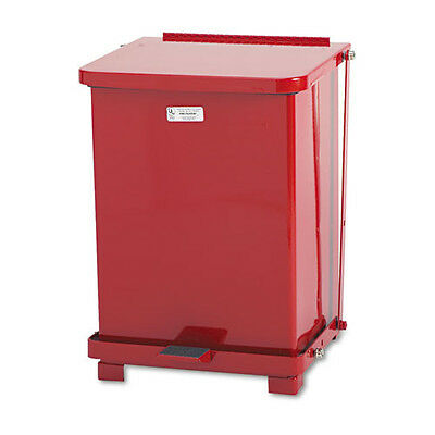 Rubbermaid 7 Gal. Biohazard Step Can (Red) ST7ERDPL NEW