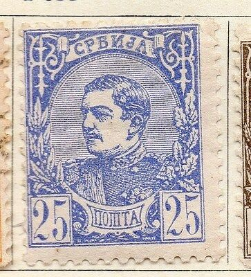 Serbia 1881 Early Issue Fine Mint Hinged 25pa. 054907