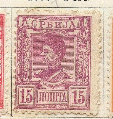 Serbia 1890 Early Issue Fine Mint Hinged 15pa. 054912