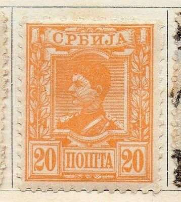 Serbia 1890 Early Issue Fine Mint Hinged 20pa. 054913
