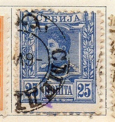 Serbia 1890 Early Issue Fine Used 25pa. 054914