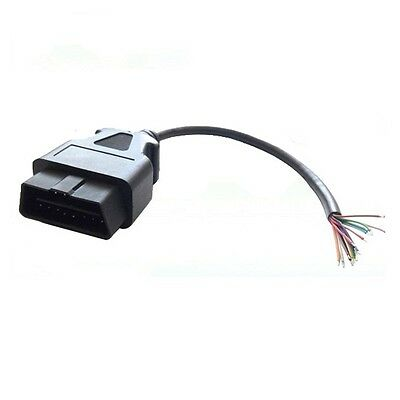 16 Pin J1962 OBD2 Male Connector Cable Plug Pigtail