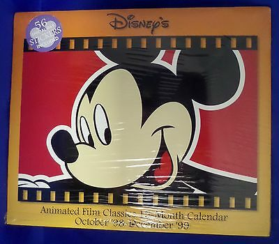 Disney Calendar Animaed Film Classics, 15 Month, 1998-1999  Factory Sealed NEW