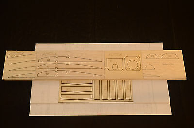 "Large Scale AQUILA Laser Cut Short Kit, Plans & Instruction for r/c GLIDER 99""WS"