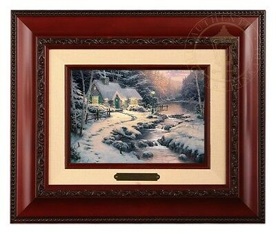 Thomas Kinkade Evening Glow Framed Brushwork (Brandy Frame)