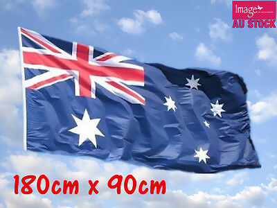 Large Aussie Australian Australia Outdoor Flag Wall Banner 180x90cm with Eyelet