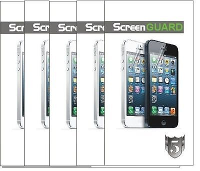 Lots 100 Clear Screen Protector Guard For iPhone 5 5S 5C New Retail Package