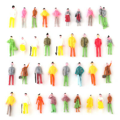 100x Mixed Painted Figure People Models Train Street Passenger OO Scale 1:75
