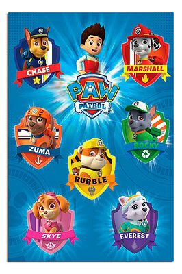Poster - Paw Patrol Crests Poster New - Maxi Size 36 x 24 Inch