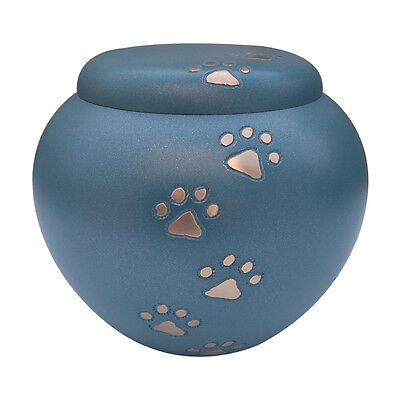 Pet Urns for Memorial Ashes, Nickle Paw Print Pet Cremation Urn for Dog, Cat