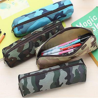 Trousse Stylo Camouflage Zip Toile Scolaire Sac Poche Crayon Pinceau Rangement