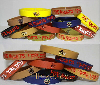 FNAF Five Nights At Freddy's Freddy Fazbear and Chica Silicone Bracelet