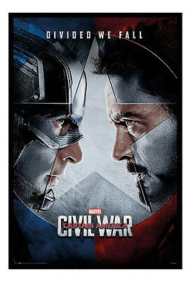 Framed Captain America Civil War Face Off Official Poster New