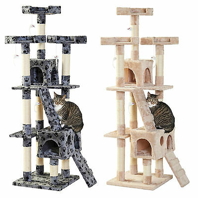 Milo & Misty Cat X-Large Tree Sisal Mansion Scratching Post Toy Activity Centre