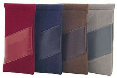 Soft Snap Top Suede & Leather Look Glasses Pouch - Great for Phones Too!  921