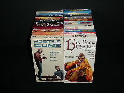 Lot of 12 Westerns Cowboys Video Tape VHS Movies Videos