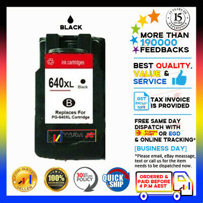 2 Generic Canon PG640XL Black Ink Cartridges for MG2160/2260/3160/3260