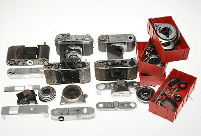 Kodak lot retina of cameras disassembled and not complete sold as is