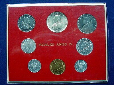 1962 Vatican Giovanni XXIII super RARE set coins with silver in official red box