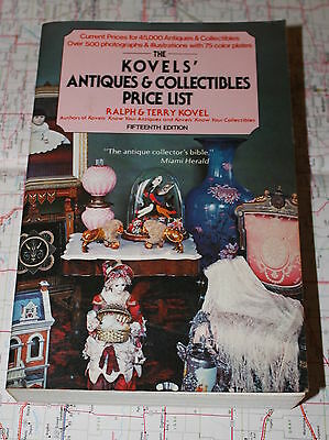 Kovels Antiques & Collectibles Price List, 15th Edition, Paperback 1982