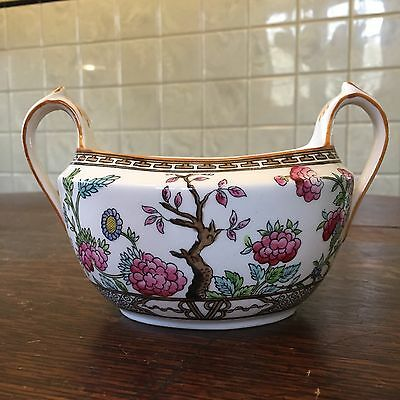 FAB Vintage Coronet England Indian Tree Pattern Bone China Gravy Boat Sugar Bowl