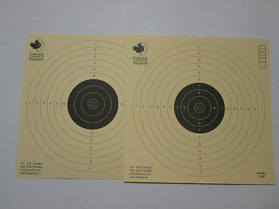 Double Sided Competition grade Air Pistol 10 meters Targets ISSF German Paper