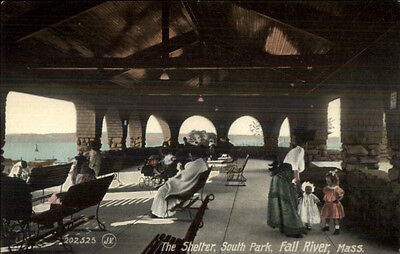 Fall River MA The Shelter at South Park c1910 Postcard