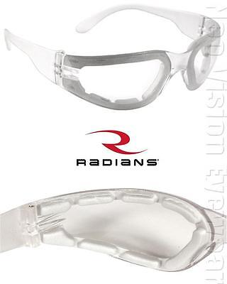 Radians Mirage Foam Padded Clear Anti Fog Lens Safety Glasses Z87+