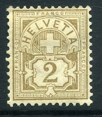 SWITZERLAND;  1905 early Numeral issue Mint hinged 2c. value