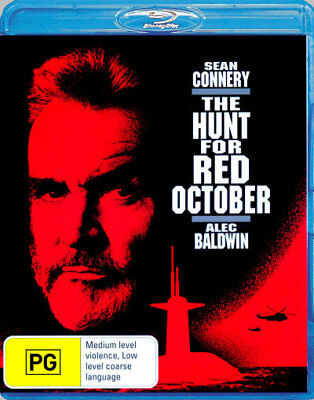 The Hunt For Red October - Sean Connery, Alec Baldwin Blu-ray Region B New! *