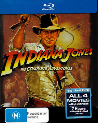 Indiana Jones Complete Collection Box Set Blu-ray Region B Brand New!!