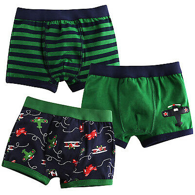 "Vaenait Baby Kids  Boxer Short Underwear Boys Pantie Set ""Boxer Airplane"" 2T-7T"