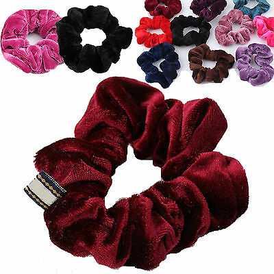 Bulk  Set Of 5 Velvet Hair Band Elastic Hair Bands Velvet Hair Scrunchie Newly