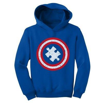 Autism Awareness - Children's Captain Autism Toddler Hoodie Support The Cause