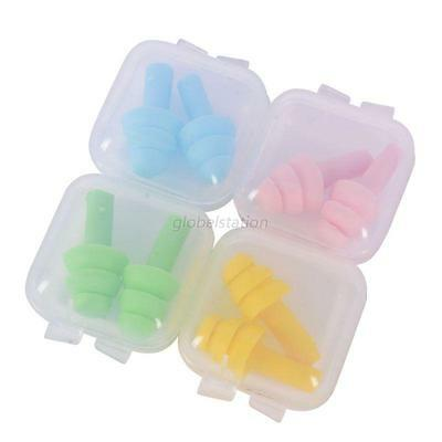 2pcs X Silicone Ear Plugs Anti Noise Snore Earplugs Comfortable For Study Sleep