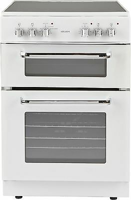 Bush BFEDC60W 60cm Free Standing Double Electric Cooker - White -From Argos ebay