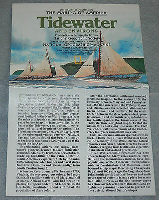 The Making of America - Tidewater and Environs - National Geographic Map