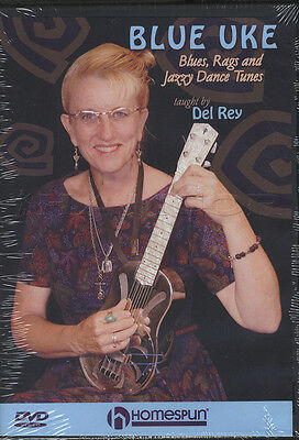 Blue Uke Blues, Rags & Jazzy Dance Tunes Ukulele Learn How To Play Tuition DVD