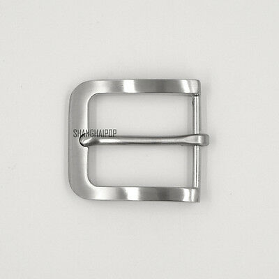 Stainless Steel Pin Buckle for Men Leather Belt Replacement Snap On 40mm Fashion
