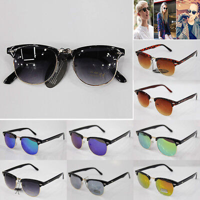 New Women men round Classic Clubmaster unisex Sunglasses UV400 Retro Vintage
