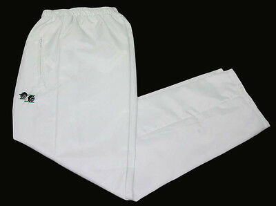 White  Lawn Bowls Bowling Waterproof Trousers Sizes S~M~L~Xl~Xxl