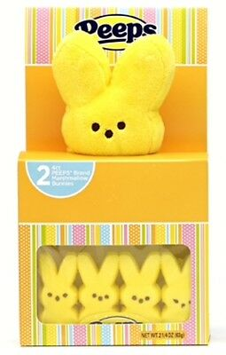 Peeps Plush Yellow Bunny 2 Boxes Marshmallow Gift Set Easter Basket Food Candy